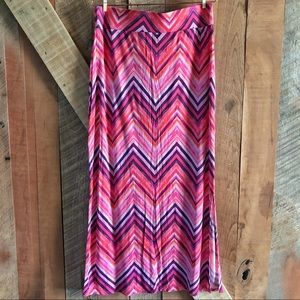 (EUC) a.n.a | Watercolor Chevron Maxi Skirt